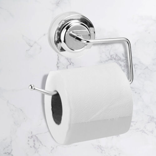 Suction Cup Toilet Paper Roll Holder Toilet Roll Holder No Drilling M/&W