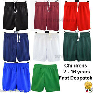 Boys-Girls-PE-Football-Sports-Shadow-Shaded-Shorts-New
