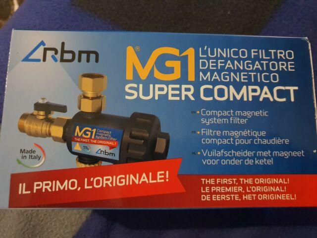 """RBM MG1 FILTRO DEFANGATORE SUPER COMPATTO MAGNETICO 3/4"""" SOTTO CALDAIA 30700500"""
