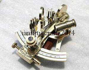 """Solid Brass Sextant 4/"""" Astrolabe Marine Nautical Maritime Gift Ships Instrument"""
