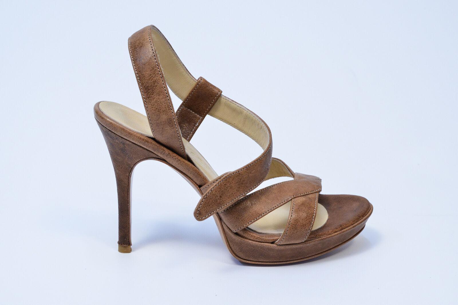 SCARPE TWIN SET DONNA scarpe 100% 50% C80920 FANGO 100% scarpe PELLE FANGO C80920   26b294