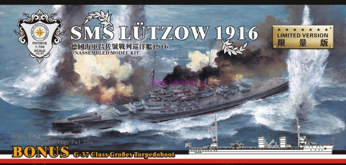 flygagahawk 1  700 1301S Tyska slåssruiser Lutzow (G -37 Grobes klass Torpedboot)