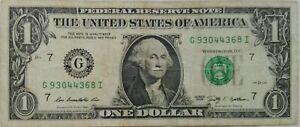 USA $1 2009 Series G 93044368 I