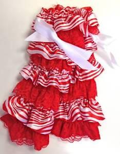 "NEW Red & White Zebra Satin & Lace Leg Warmers 11"""