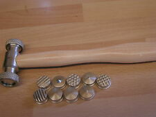 texturing/planishing hammer 9 interchangable heads
