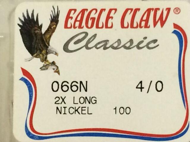 Eagle Claw Lazer Sharp 2X long shanked offset hooks Size 1//0-12 Pack 066-1//0