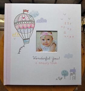 CR-Gibson-WONDERFUL-YOU-Pink-Hot-Air-Balloon-Baby-Girl-Memory-Keepsake-Book