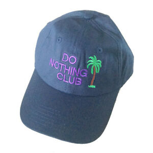 Details about Mens DO NOTHING CLUB Baseball Cap Casual Cotton Snapbacks Sun  Hat Dad Hat Navy