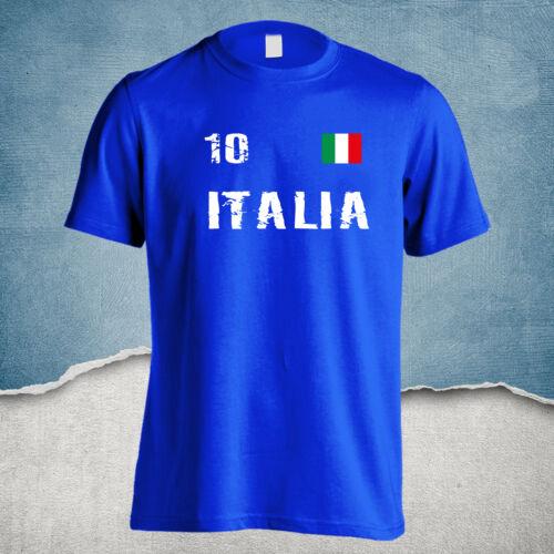 ITALIA T-SHIRT ITALIEN SQUADRA AZZURRA HOCHWERTIGE VERARBEITUNG S 4XL ROM