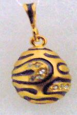 Silver Russian Handmade Faberge Egg Pendant #PD-011-103
