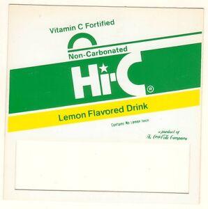 "Hi-C Lemon Vending Machine Insert Push Button Style 3 1//2/"" x 3 1//2/"""