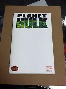 2015 Planet Hulk #1 Blank Sketch Cover Marvel Comics Secret Wars