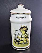 VINTAGE 1987 DANBURY MINT HUMMEL SWITZERLAND PAPRIKA SPICE JAR JAPAN (A32)