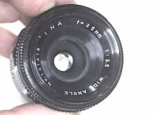 """Vinson /INA Wide-Angle Lens 1:3.5, f =35mm, """"Swirling Brokeh"""", hood and case, M4"""