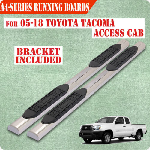 "For 05-20 Toyota Tacoma Access//Ext Cab 4/"" Nerf Bar Running Board Side Step S//S"