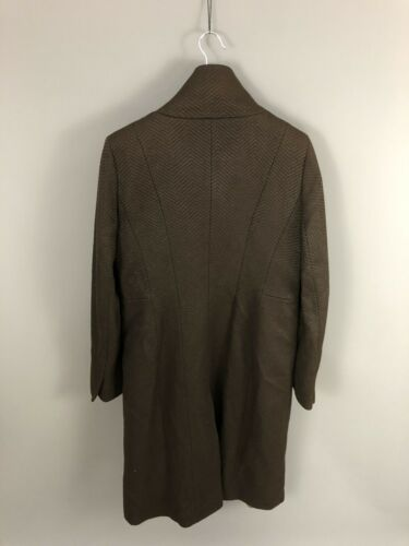 Great Women's Length Wool Brown Coast Long Uk16 Coat Condition xq8Hq4Y