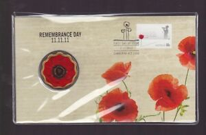 2011-Remembrance-Day-11-11-11-PNC-5-Coin-Stamp-Set-Flanders-Poppy