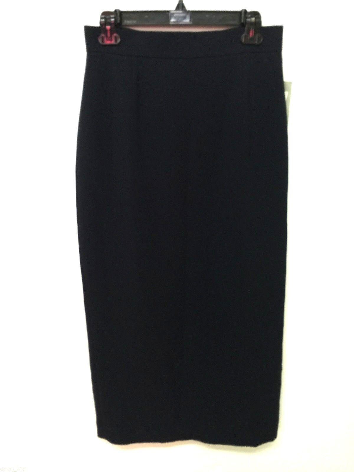 NWT Liz Claiborne Women's Dark bluee Skirt Size 8P MSRP  99