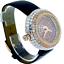 miniature 2 - 14k Rose Gold Custom Unisex Round Baguette Cut Leather Wrist Watch Simulated New
