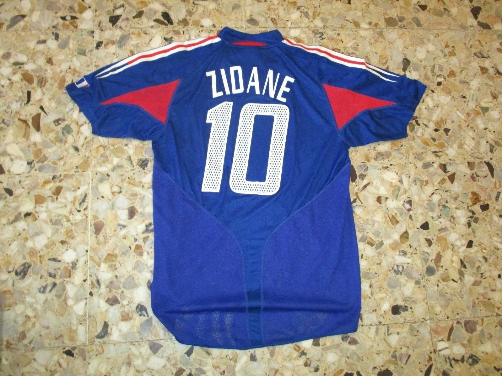 Maillot ancien trikot shirt jersey maglia ZIDANE EQUIPE DE FRANCE 2004-2005
