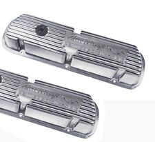 New Ford Mustang Solid Block Letter Aluminum Valve Covers Powered by Ford 289 V8