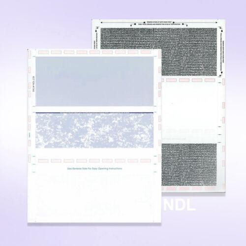 Pressure Seal Self Mailer Checks Blue-500