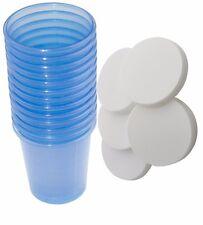 80 Stück Medikamentenbecher + 80 Deckel Medizinbecher Schnapsbecher Farbe: blau
