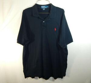 Ralph-Lauren-Polo-Short-Sleeve-Mens-Golf-Dress-Shirt-Black-Size-LARGE-L