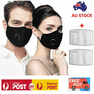 Washable Reusable PM 2.5 Anti Air Pollution Face Mask Respirator Mask &2 Filters