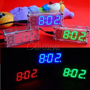 4-Digit-LED-DIY-Digital-Electronic-Micro-Controller-Kit-Clock-Time-Thermometer