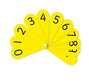 Inspirational-Classrooms-3106102-039-Pupil-Number-Fans-Educational-Toy-Pack-of-10