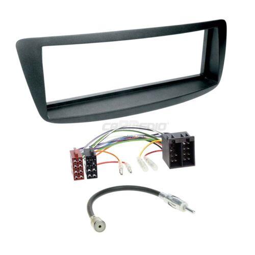 Autoradio Einbauset 1-DIN Toyota Aygo ab 05 Kabel Einbaurahmen schwarz