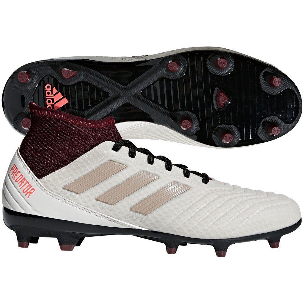 adidas Womens Predator 18.3 FG  2018 Soccer Shoes Cleats White / Beige / Purple