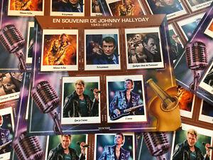 Vignettes-timbres-Johnny-Hallyday-1943-2017-souvenir-hommage-COLLECTOR