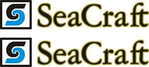 4 SM Seacraft Boat Decals Graphics Sticker Decal Stickers Seacraft Any Color USA