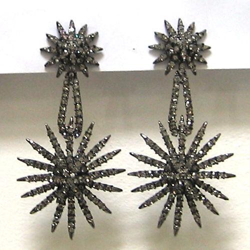 Butler & Wilson Zinn Kristall Starburst Ohrringe NEU