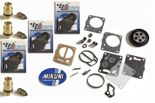 Yamaha XL1200 XLT1200 99-05 Genuine Mikuni Triple Carb Rebuild Kit /& Needle Seat