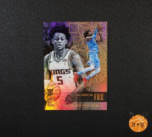 2017-18 Essentials De'Aaron Fox Rookie Gold Card 189 Sacramento Kings RC