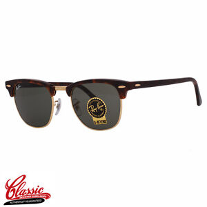 870031acb81 Image is loading RAY-BAN-ORIGINAL-CLUBMASTER-SUNGLASSES-RB3016-W0366E- Tortoise-