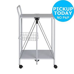 ... HOME-Foldable-Kitchen-Storage-Trolley-From-the-Official-  sc 1 st  eBay & HOME Foldable Kitchen Storage Trolley. From the Official Argos Shop ...