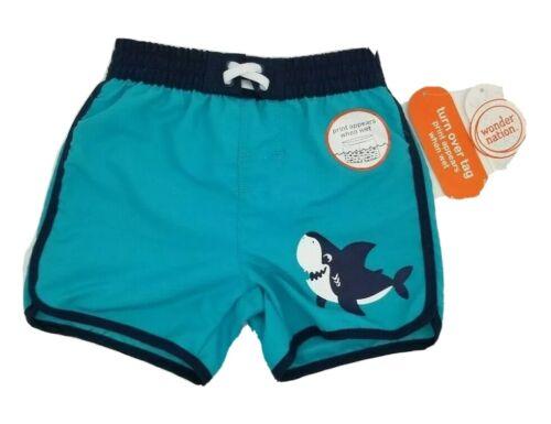 UPF 50+ Wonder Nation Baby Boys Swimwear Print Appears When Wet 6-9 Months