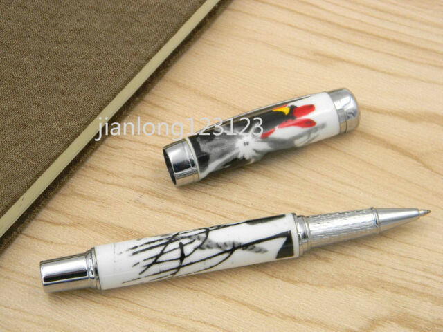 Jinhao Blue And White Porcelain Lotus Flower Painting Ceramic Rollerball Pen