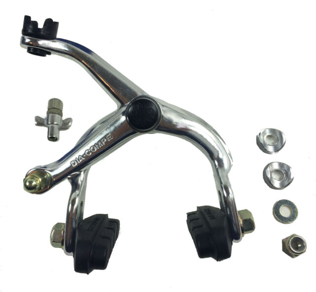 1 Set Alloy Side Pull Bicycle Front Rear Brake Set Bike Caliper Lever Silver