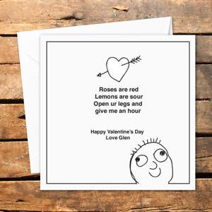 Personalised Valentines Day Card Boyfriend Girlfriend Fuckin Love