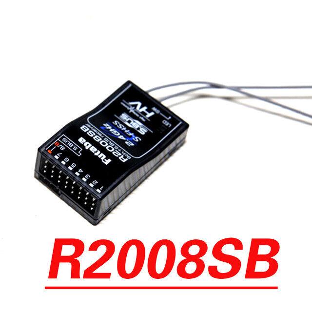 NEW FUTABA R2008SB 2.4GHz S-FHSS 8 Channel (8-Ch) S.Bus Receiver for Futaba 7PX