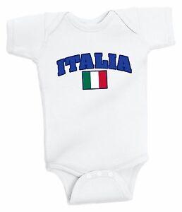 Italy Bodysuit Italia Soccer Baby Outfit Mameluco Infant Girls Boys