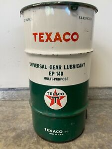 VTG TEXACO OIL DRUM GAS / OIL ADVERTISING ** READ LISTING**FREE LOCAL PICK UP**