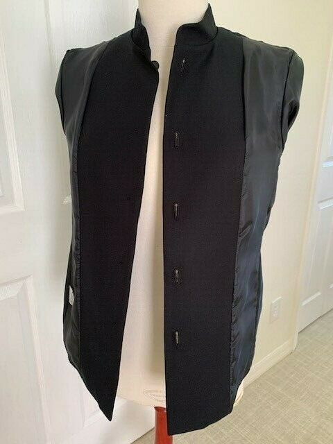 Talbot Women Black Jacket Size 4 Cotton/Silk Mand… - image 10