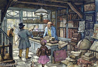 The Book Shop Anton Pieck, Village Landscapes Cross Stitch Pattern