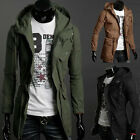 New Men's Military Fashion Casual Jacket Warm Winter Coat Slim Outwear Overcoat